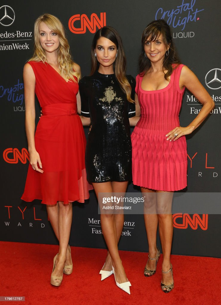Lindsay Ellingson, Lily Aldridge, and Monica Mitro attend the 10th annual Style Awards during Mercedes Benz Fashion Week Spring 2014 at Lincoln Center on September 4, 2013 in New York City.