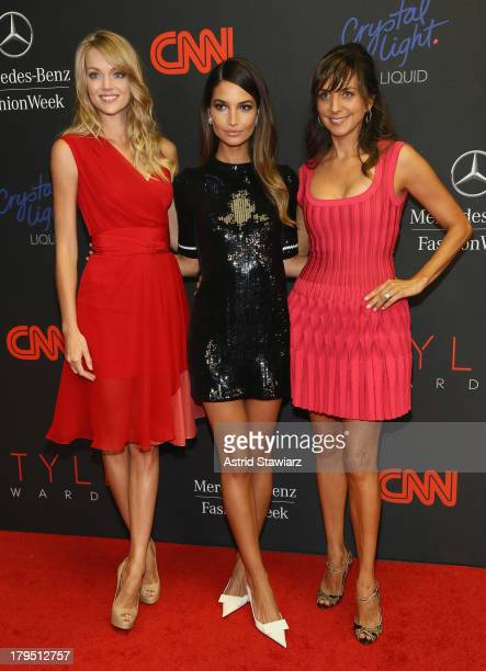 Lindsay Ellingson Lily Aldridge and Monica Mitro attend the 10th annual Style Awards during Mercedes Benz Fashion Week Spring 2014 at Lincoln Center...