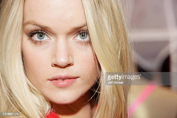 Lindsay Ellingson visits Victoria's Secret N Michigan Ave on March 29 2011 in Chicago Illinois