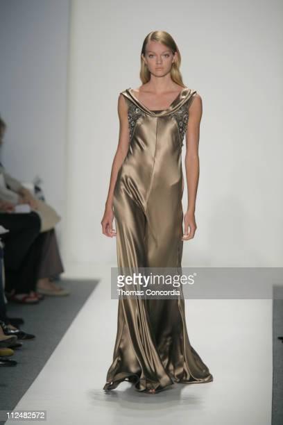 Lindsay Ellingson wearing Reem Acra Spring 2007 during Olympus Fashion Week Spring 2007 Reem Acra Runway at The Atelier Bryant Park in New York City...