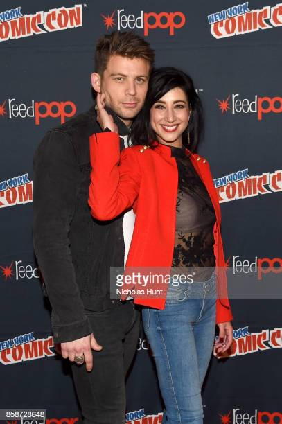Lindsay Farris and Dana DeLorenzo attend the Ash Vs Evil Dead Panel during 2017 New York Comic Con Day 3 on October 7 2017 in New York City