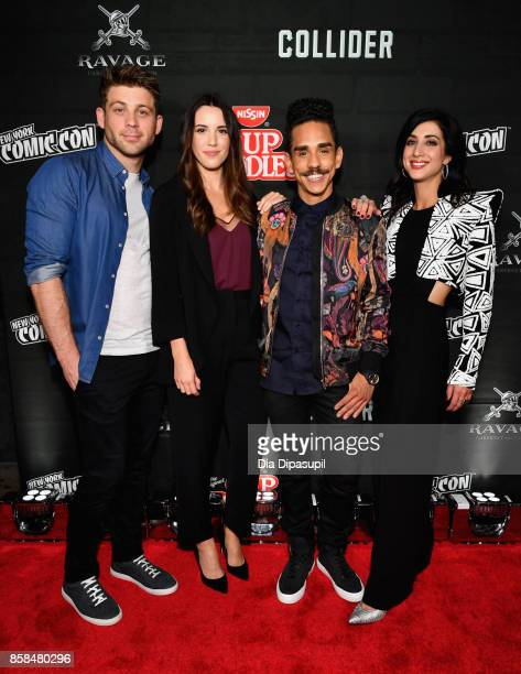 Lindsay Farris Arielle CarverO'Neill Ray Santiago and Dana DeLorenzo attend the Heroes After Dark event during the 2017 New York Comic Con on October...