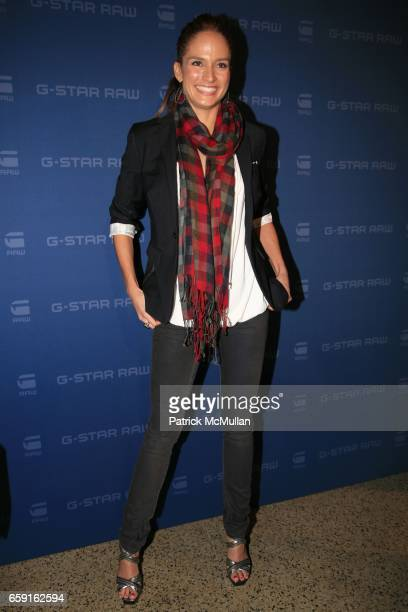 Lindsay Frimodt attends GSTAR RAW Presents Fall/Winter 2009 Collection at New York Fashion Week at Hammerstein Ballroom on February 17 2009 in New...