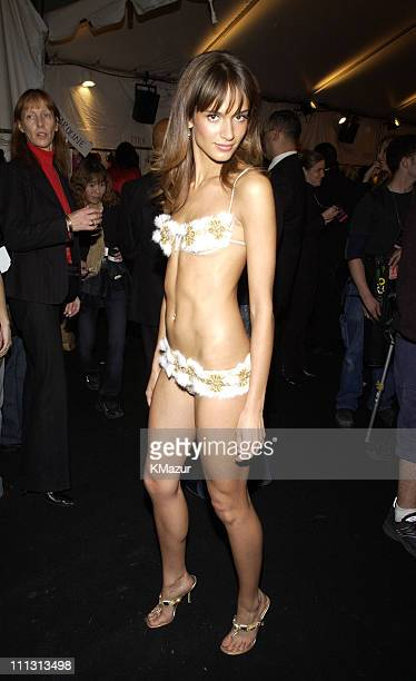 Lindsay Frimodt during 8th Annual Victoria's Secret Fashion Show Backstage at The New York State Armory in New York City New York United States