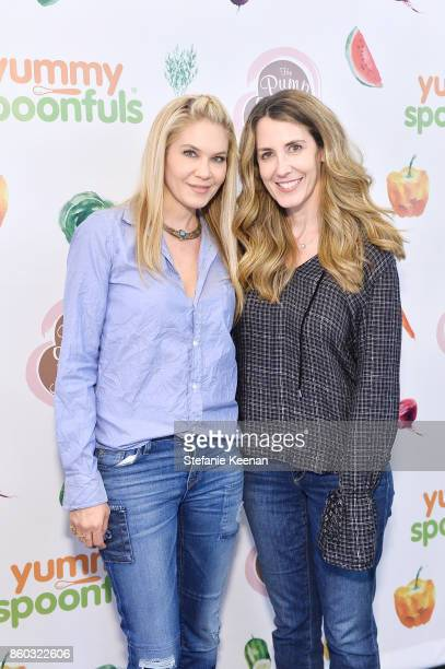 Lindsay Gerszt and Jill Campbell attend First Foods 101/Yummy Spoonfuls at Pump Station Nurtury on October 11 2017 in Los Angeles California