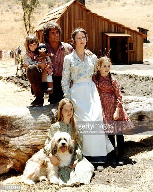 Lindsay Greenbush, US actress, with Michael Landon , US actor, Karen Grassle, US actress, Melissa Gilbert, US actress, and Melissa Sue Anderson, US...