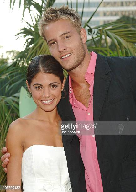 Lindsay Hartley and Justin Hartley during 2005 NBC Network All Star Celebration at Century Club in Century City California United States