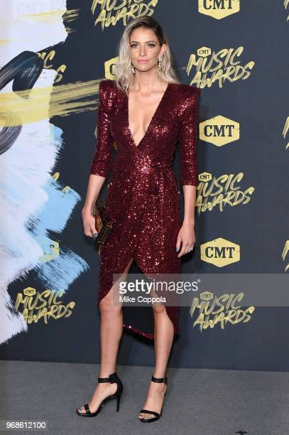 Lindsay James attends the 2018 CMT Music Awards at Bridgestone Arena on June 6 2018 in Nashville Tennessee