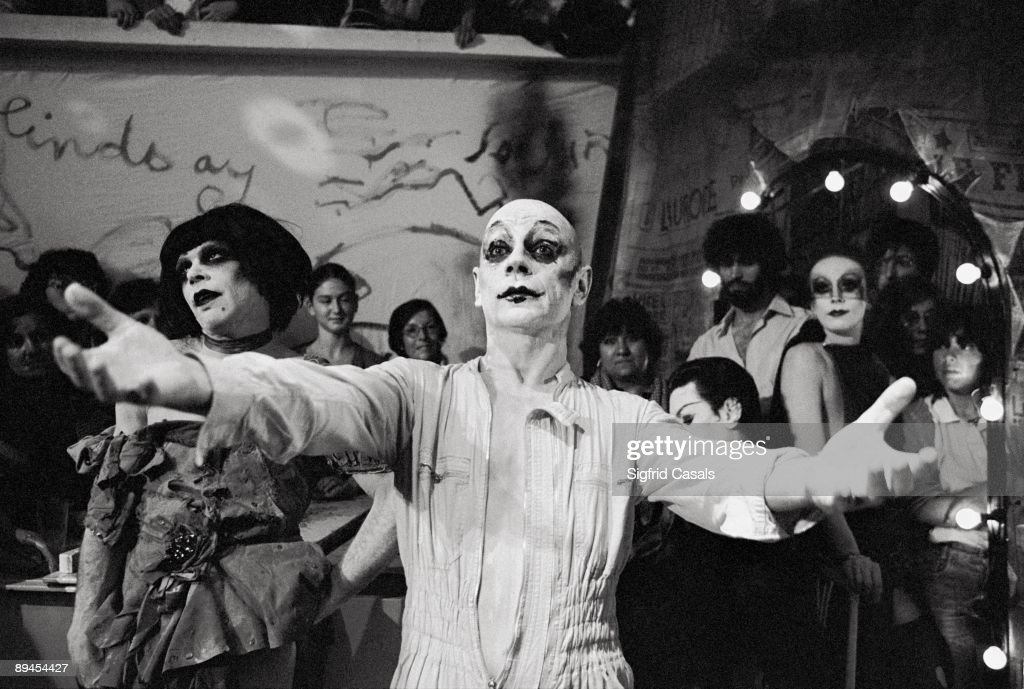 Lindsay Kemp, actor and stage director Lindsay Kemp made up in a performance