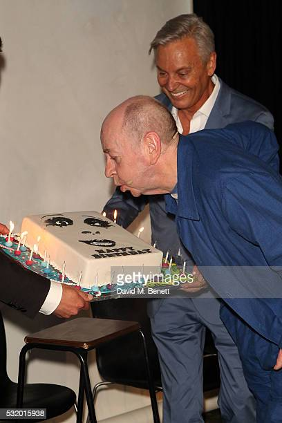 Lindsay Kemp attends 'Lindsay Kemp: My Life & Work With David Bowie - In Conversation With Marc Almond' at The Ace Hotel on May 17, 2016 in London,...