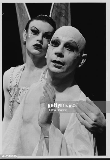 Lindsay Kemp the Scottish mime artist and dancer stars with David Haughton in Flowers
