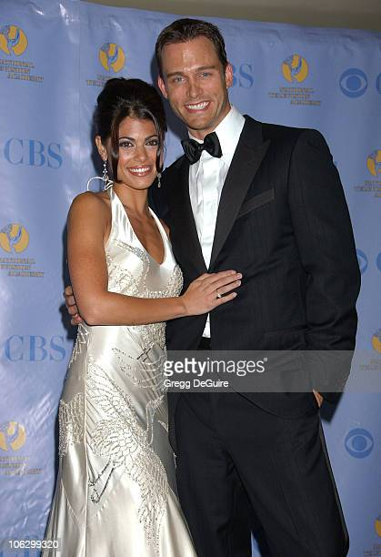 Lindsay Korman and Eric Martsolf during 34th Annual Daytime Emmy Awards Press Room at Kodak Theater in Los Angeles California United States