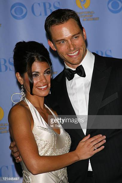 Lindsay Korman and Eric Martsolf during 34th Annual Daytime Emmy Awards Press Room at Kodak Theatre in Hollywood CA United States