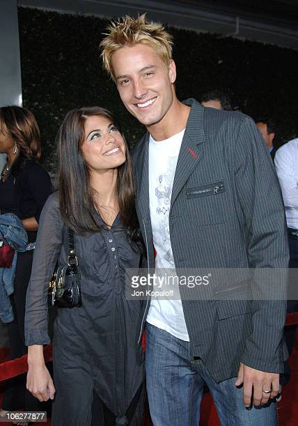 Lindsay Korman and husband Justin Hartley during American Dreamz Los Angeles Premiere Arrivals at ArcLight Hollywood in Hollywood California United...