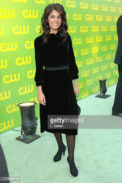 Lindsay Korman during The CW Launch Party Green Carpet at WB Main Lot in Burbank California United States