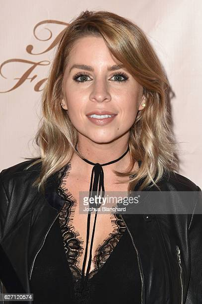 Lindsay Lamb arrives at Too Faced's Sweet Peach Launch Party at The Lot on December 1 2016 in West Hollywood California