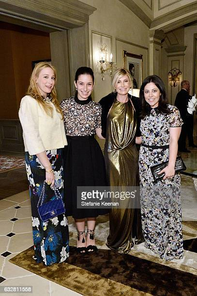 Lindsay Lamb Carolyn ShapiroLauren Lundy and Suzanne Berkman attend PSLA partners with Carolina Herrera for Winter Gala on January 26 2017 in Beverly...
