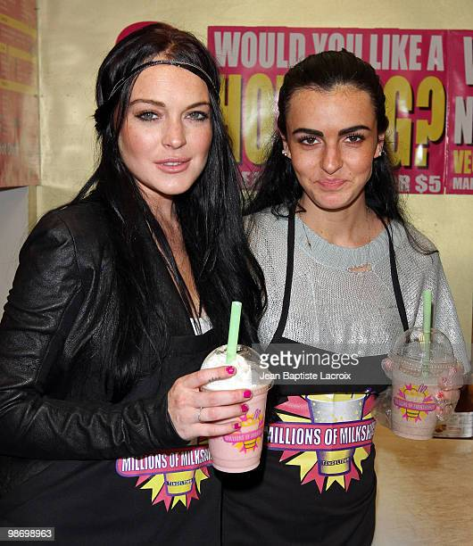 Lindsay Lohan and Ali Lohan visit Millions of Milshakes on April 26 2010 in Los Angeles California