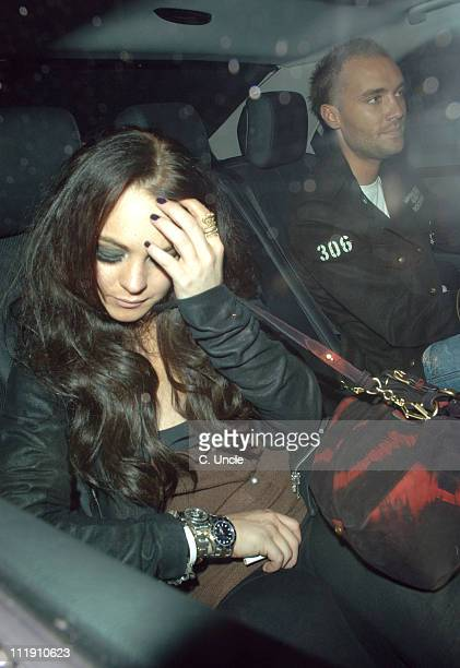 Lindsay Lohan and Calum Best during Lindsay Lohan and Calum Best Sighting at the Kabaret Club November 20 2006 at Kabaret Club in London Great Britain
