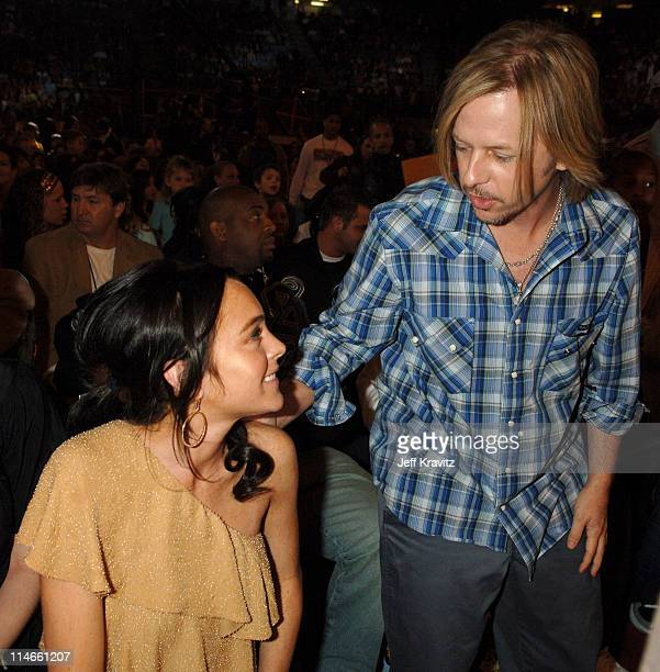 Lindsay Lohan and David Spade during Nickelodeon's 19th Annual Kids' Choice Awards - Backstage and Audience at Pauley Pavillion in Westwood,...