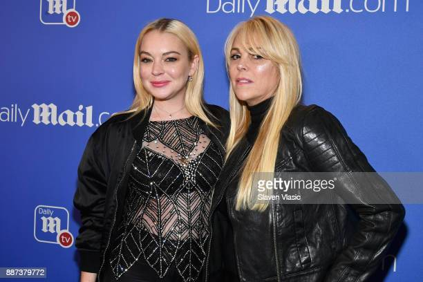 Lindsay Lohan and Dina Lohan attend DailyMailcom DailyMailTV Holiday Party with Flo Rida on December 6 2017 at The Magic Hour in New York City