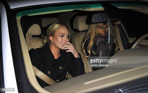 Lindsay Lohan and Dina Lohan seen leaving Intermix in SoHo on December 28 2009 in New York City