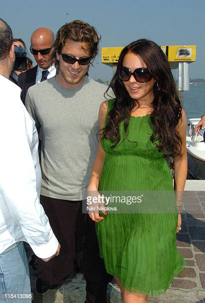 Lindsay Lohan and Harry Morton during The 63rd International Venice Film Festival Celebrities Leaving the Cipriani Hotel September 5 2006 at Cipriani...