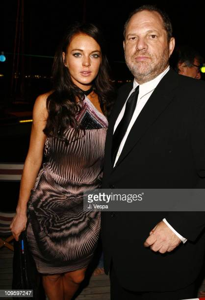 Lindsay Lohan and Harvey Weinstein during The 63rd International Venice Film Festival Missoni Hosts Dinner for the Premiere of 'Bobby' at The Missoni...