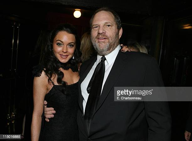 Lindsay Lohan and Harvey Weinstein during The Weinstein Company Hosts Black Tie Opening Night Gala and US Premiere of Emilio Estevez's Bobby at...