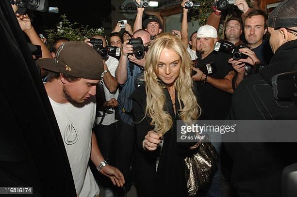 Lindsay Lohan and her boyfriend Riley Giles leaving Ken Paves salon on November 3 2007 in Los Angeles California