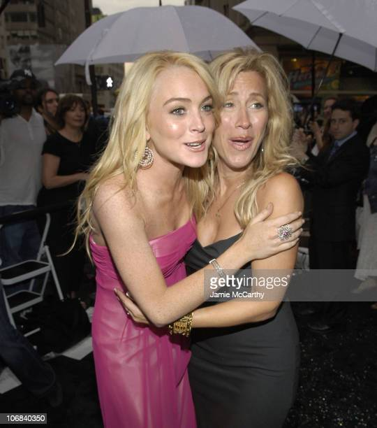 Lindsay Lohan and Lisa Ann Walter during De Beers LV Celebrates The Entry to The US with The Grand Opening of its First De Beers Store at De Beers...