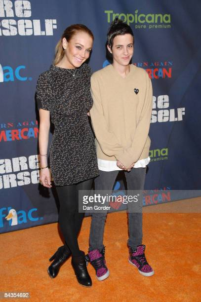 Lindsay Lohan and Samantha Ronson attend 'A New Birth of Citizenship' inaugural event presented by Declare Yourself at Renaissance Washington Grand...