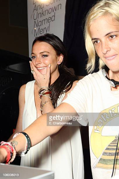 Lindsay Lohan and Samantha Ronson during Entertainment Weekly Magazine 4th Annual Pre-Emmy Party - Inside at Republic in Los Angeles, California,...