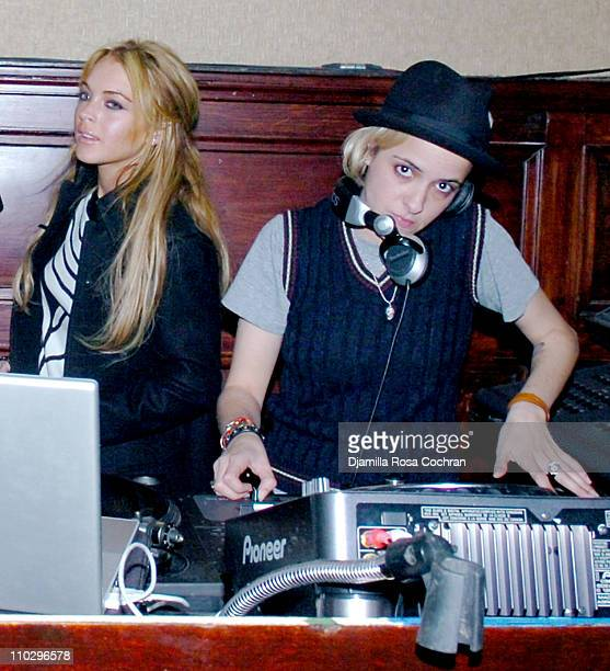 Lindsay Lohan and Samantha Ronson during Noel Ashman Throws Party for Lindsay Lohan and Samantha Ronson at The Plumm March 15 2007 at The Plumm in...