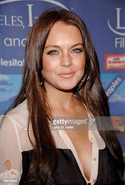 Lindsay Lohan arrives at a private dinner party for the 3rd Annual Los Angles ItaliaFilm Fashion Art Fest at Trastevere Restaurant on February 17...