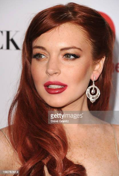 LIndsay Lohan arrives at the 'Liz Dick' Los Angeles Premiere at Beverly Hills Hotel on November 20 2012 in Beverly Hills California
