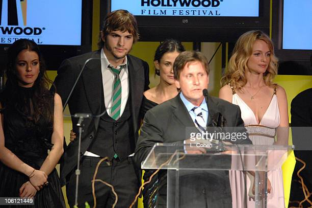 Lindsay Lohan Ashton Kutcher Demi Moore Emilio Estevez and Heather Graham
