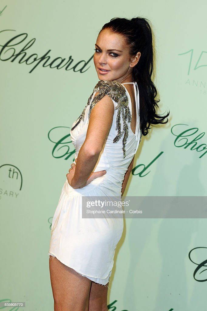 Lindsay Lohan at the 'Chopard 150th Anniversary Party' during the 63rd Cannes International Film Festival.