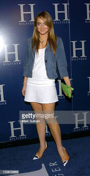 Lindsay Lohan at the H Hilfiger After Party during Tommy Hilfiger Launches his New 'H' Hilfiger Spring 2004 After Party Arrivals at Concorde in...