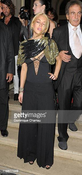 Lindsay Lohan attends 90 Years of Vogue Covers on Champs Elysees party at Hotel Crillon on October 1 2009 in Paris France