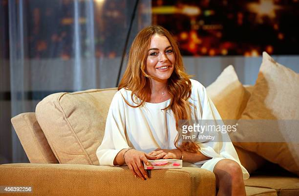 Lindsay Lohan attends a photocall for Speed The Plow at Playhouse Theatre on September 30 2014 in London England