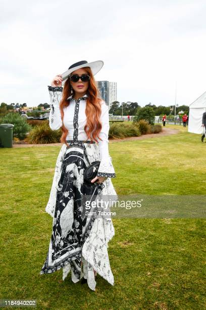 Lindsay Lohan attends Derby Day at Flemington Racecourse on November 02 2019 in Melbourne Australia