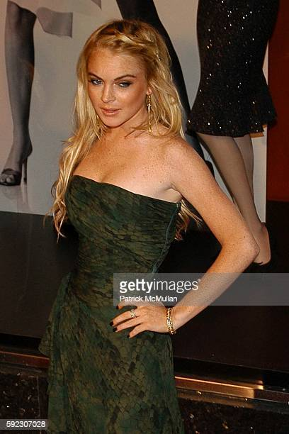 Lindsay Lohan attends Elle and Bloomingdale's celebrate the magazine's 21st birthday with a VIP bash benefiting EIF's National Colorectal Cancer...