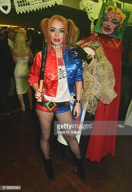 Lindsay Lohan attends Fran Cutler's Halloween Party supported by Belvedere Vodka at Albert's Club on October 31 2016 in London England