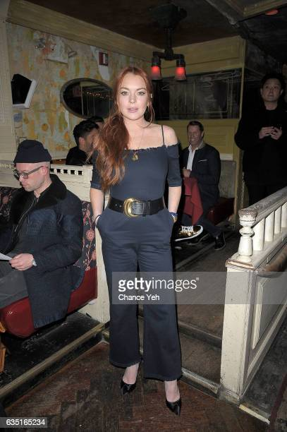 Lindsay Lohan attends Love X Fashion X Art by Domingo Zapata at The Box on February 13 2017 in New York City