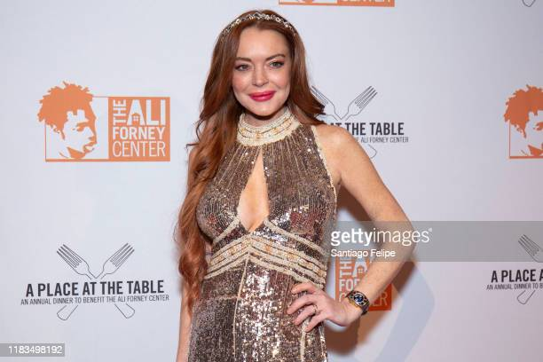 Lindsay Lohan attends the 2019 Ali Forney Center Gala at Cipriani Wall Street on October 25 2019 in New York City