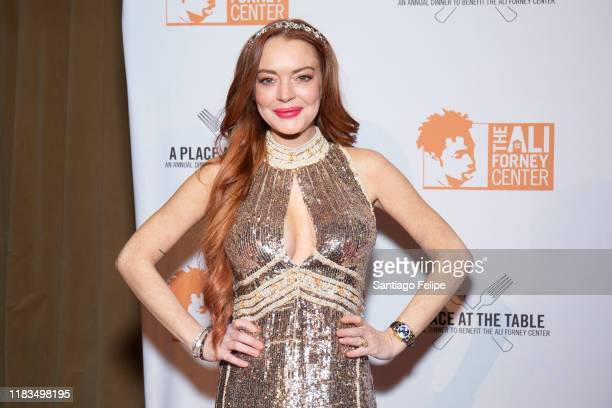 Lindsay Lohan attends the 2019 Ali Forney Center Gala at Cipriani Wall Street on October 25, 2019 in New York City.