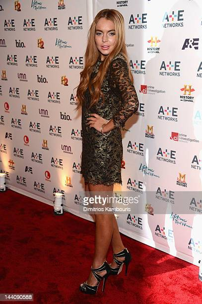 Lindsay Lohan attends the AE Networks 2012 Upfront at Lincoln Center on May 9 2012 in New York City