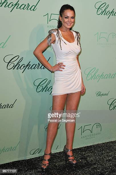 Lindsay Lohan attends the Chopard 150th Anniversary Party at Palm Beach Pointe Croisette during the 63rd Annual Cannes Film Festival on May 17 2010...