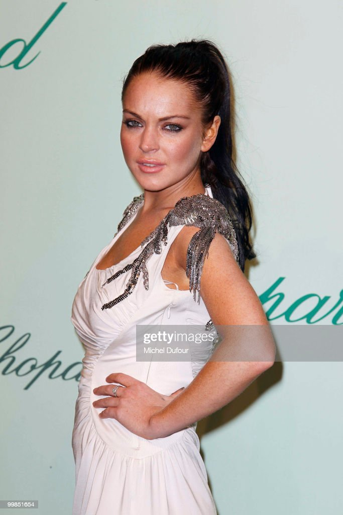 Lindsay Lohan attends the Chopard 150th Anniversary Party at Palm Beach, Pointe Croisette during the 63rd Annual Cannes Film Festival on May 17, 2010 in Cannes, France.